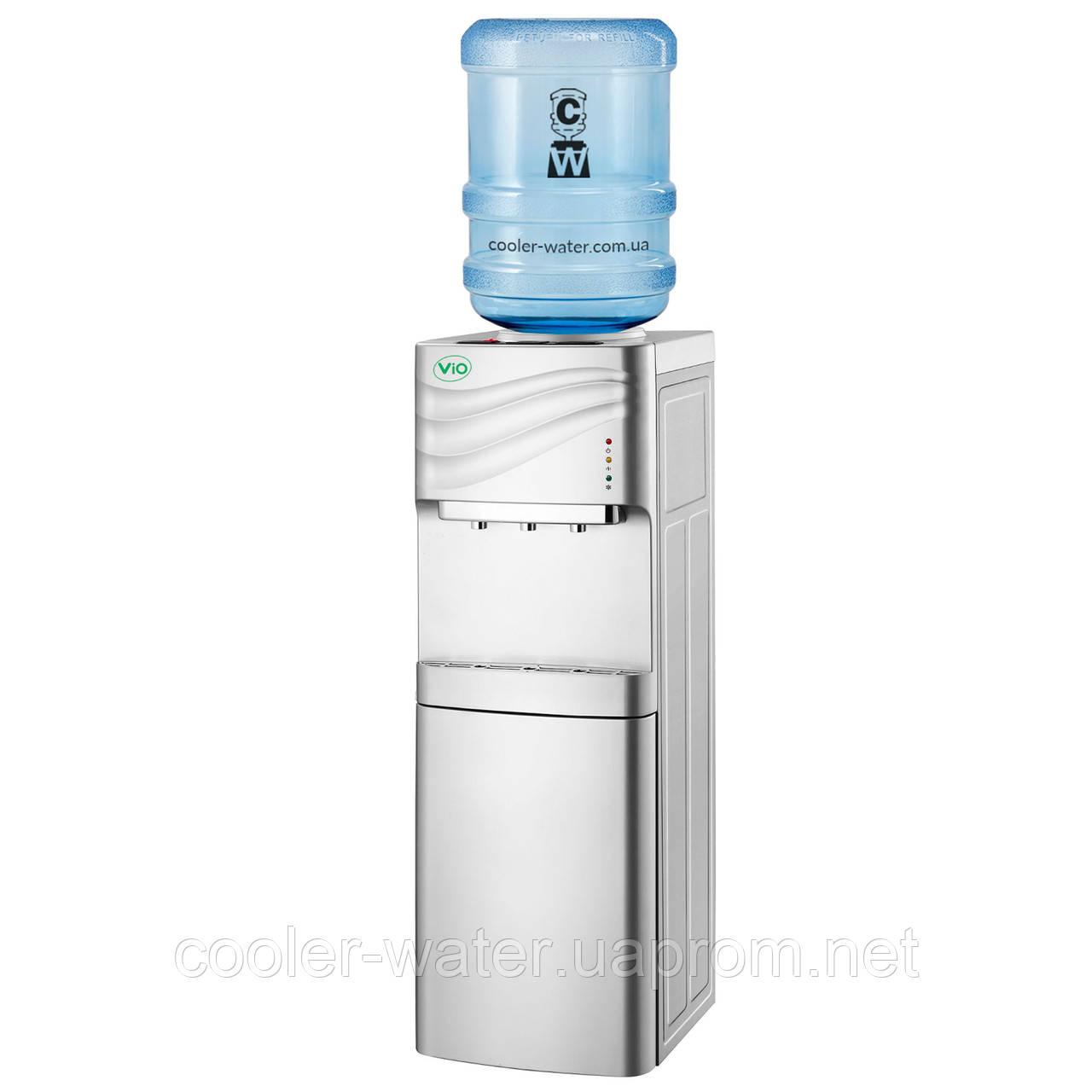 Кулер для воды ViO X-903 FEC Silver со шкафчиком