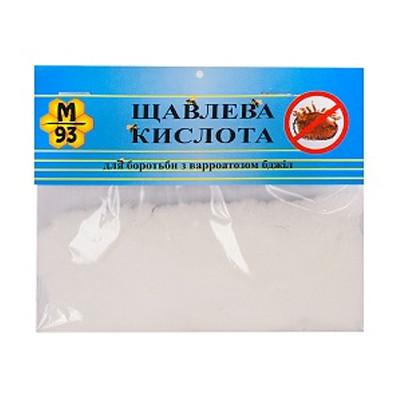 Кислота ЩАВЕЛЕВАЯ, порошок 20 г (для лечения ВАРРОАТОЗА ПЧЕЛ экологически чистым способом), Украина
