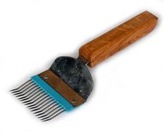 Вилка с изогнутыми иглами, деревянная ручка, нержавейка