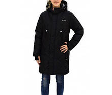 """Куртка парка зимняя для девочки """"Джил""""  Be Easy,  Размеры от 104 до 170,  Цвет - черный"""