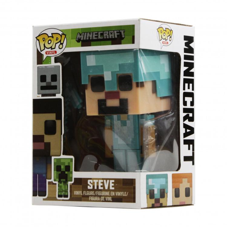 """Фігурка МЕТР + """"Поп Minecraft"""", """"Стів в алмазі"""", 18892-005"""