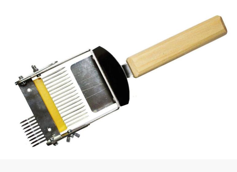 Вилка розкладачка для роздрукування стільників, наржавейка, дерев'яна ручка