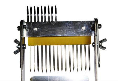 Вилка раскладушка для распечатки сот, наржавейка, деревянная ручка, фото 2