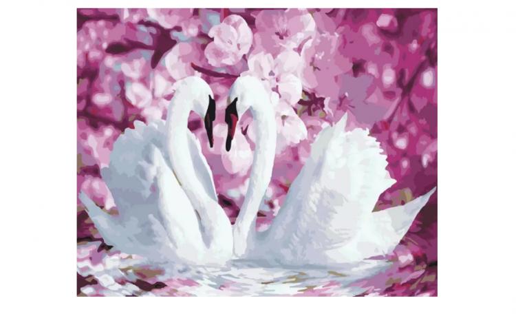 """Картина по номерам Rainbow Art """"Лебединая нежность"""", 40*50см, GX22739"""