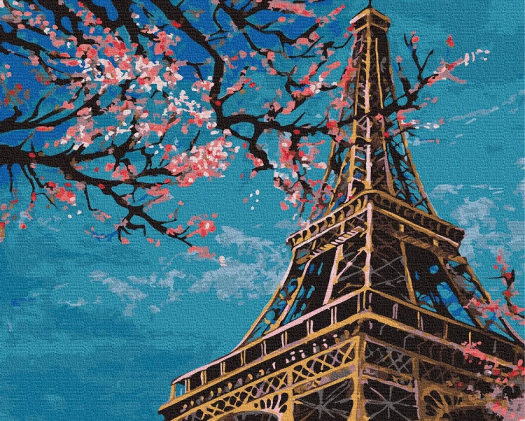 """Картина за номерами Rainbow Art """"Весна в Парижі"""", 40*50см, GX32528"""
