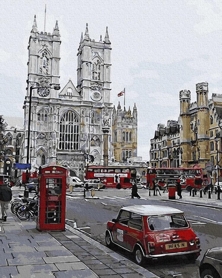 """Картина по номерам Rainbow Art """"Вечерний Лондон"""", 40*50см, GX30105"""