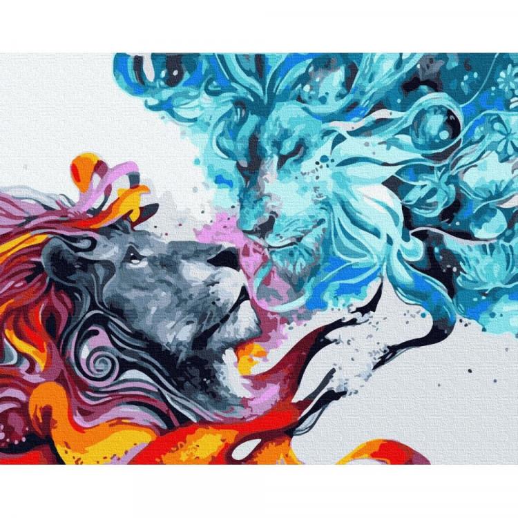 """Картина за номерами Rainbow Art """"Лід і полум'я"""", 40*50см, GX32435"""