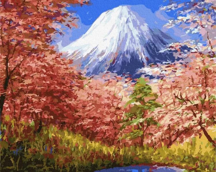 """Картина за номерами Rainbow Art """"Фудзіяма"""", 40*50см, GX30191"""