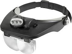 Бинокуляр MG81001-E с подсветкой LED, увеличение 1.2x-6x