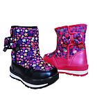 Детские зимние сапожки- дутики Том м для девочек, р. 23, 26, 27,28  Розовые теплые ботиночки, фото 10