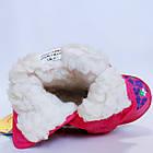 Детские зимние сапожки- дутики Том м для девочек, р. 23, 26, 27,28  Розовые теплые ботиночки, фото 7