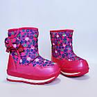 Детские зимние сапожки- дутики Том м для девочек, р. 23, 26, 27,28  Розовые теплые ботиночки, фото 9