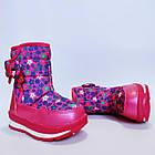 Детские зимние сапожки- дутики Том м для девочек, р. 23, 26, 27,28  Розовые теплые ботиночки, фото 4