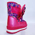 Детские зимние сапожки- дутики Том м для девочек, р. 23, 26, 27,28  Розовые теплые ботиночки, фото 5