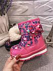 Детские зимние сапожки- дутики Том м для девочек, р. 23, 26, 27,28  Розовые теплые ботиночки, фото 2