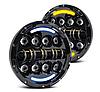 Фары светодиодные LED 7 дюймов, круглая, 1 шт, 35 Вт (УАЗ, ГАЗ, КамАЗ, Jeep Nissan, FJ Cruiser, Harley Davidso