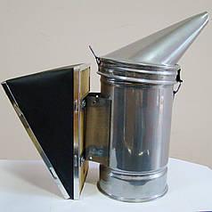 Дымарь пасечный d=92 мм, сменный мех кожзам, порошковая покраска