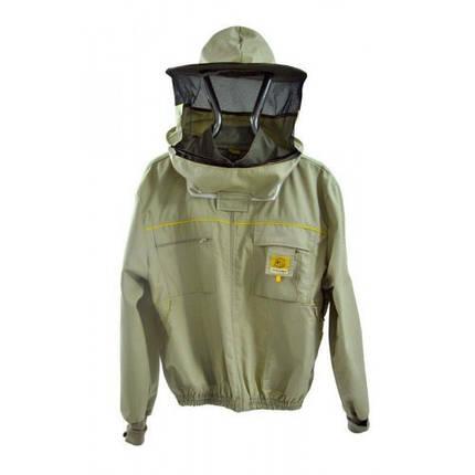 Куртка пчеловода на молнии з защитной маской Lyson Premium, Польша, фото 2