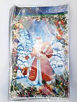 Пакеты фольгированные для конфет Новый год размер 25*40 см
