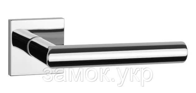 Ручка дверная на розетке Aprile Arabis Q 7S хром полированный (Польша)
