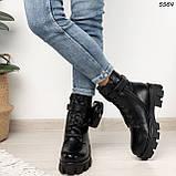 Ботиночки Материал эко-кожа высокого качества Сезон зима внутри эко-мех В5564, фото 2