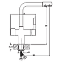 Кухонный смеситель на две воды MIXXUS Premium Hans 021 (MI1666), фото 2