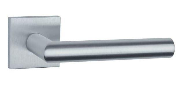 Ручка дверная на розетке Aprile Arabis Q 7S сатин хром (Польша)
