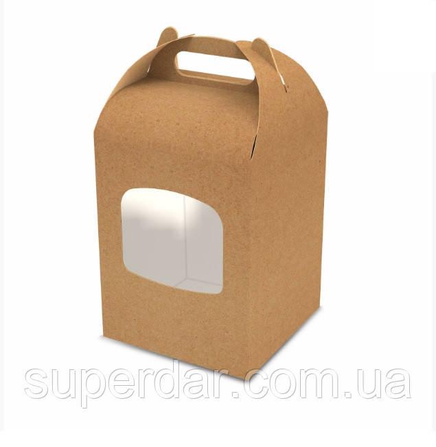 Коробка для паски, пряникового будиночка, 152х152х200 мм., крафт (ящ.:200 шт)