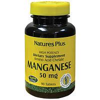 Марганец 50мг, Natures Plus, 90 таблеток