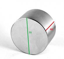 Постоянный неодимовый магнит 70*40 (70х40, 70 40, 70 на 40) сила 200 кг производства Польша