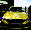 Наклейка на автомобиль 3D 50cm дракон белый