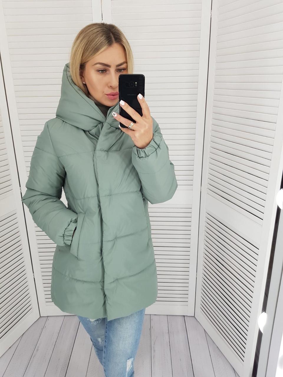 Куртка зимняя женская, цвет: мята, арт. 1005