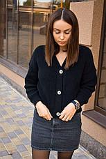 Женская кофта кардиган черный, фото 2