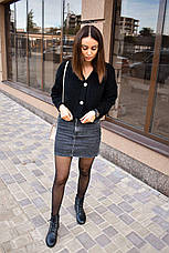 Женская кофта кардиган черный, фото 3
