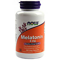 Мелатонин, Melatonin, Now Foods, 5мг, 180 капсул