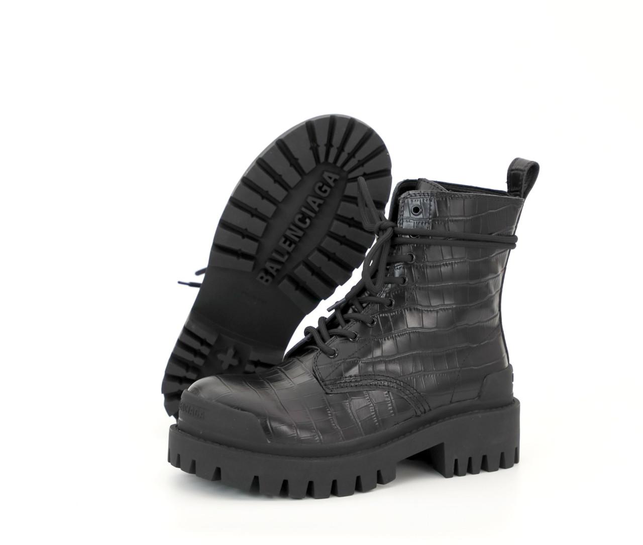 Демисезонные женские ботинки Balenciaga Strike. ТОП Реплика ААА класса.