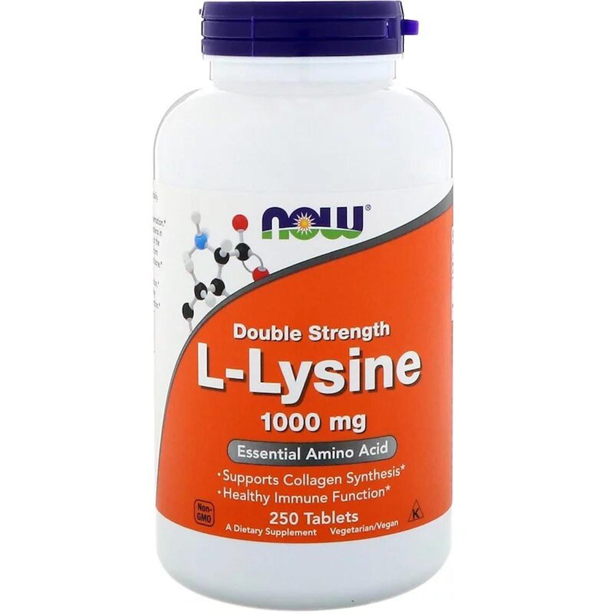 L-Лизин, L-Lysin, Now Foods, 1000 мг, 250 таблеток