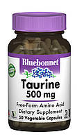 Таурин 500мг, Bluebonnet Nutrition, 50 гелевых капсул