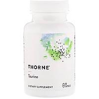 Таурин, Taurin, Thorne Research, 90 капсул