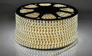 """Светодиодная LED лента гибкая 220V PROlum™ IP68 5730\72 Series """"S"""", Белый (5500-6000К)"""