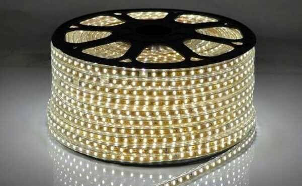 """Светодиодная LED лента гибкая 220V PROlum™ IP68 5730\72 Series """"S"""", Белый (5500-6000К), фото 2"""