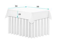 Скатертина 130х280см Шампань Наперон з просоченням Тефлон (Т-310) на стіл 90х240см Туреччина, фото 3