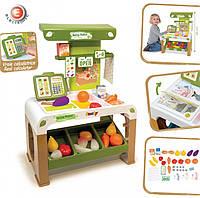 Игровой набор Smoby Супермаркет здоровой еды с электронной кассой 43 аксессуара 350200