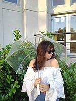 Женский прозрачный КАЧЕСТВО / Парасоля жіноча прозора ТОП ПРОДАЖА ЗОНТ, фото 1