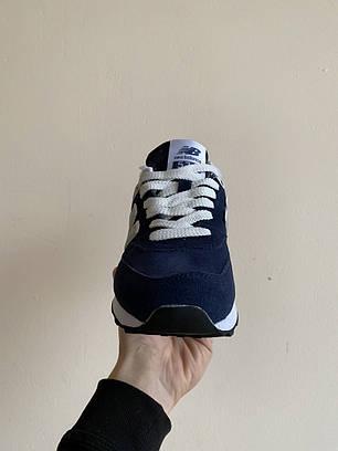 """Зимние кроссовки на меху New Balance 574 """"Синие/Серые"""", фото 2"""