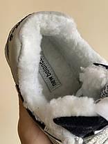 """Зимние кроссовки на меху New Balance 574 """"Синие/Серые"""", фото 3"""