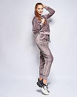 Женский утепленный велюровый костюм Poliit 7252, фото 1