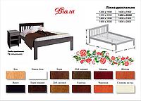 Деревянная кровать Виола (бук массив)
