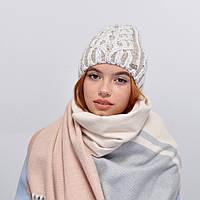 Женская шапка veilo на флисе 3340 светлый беж