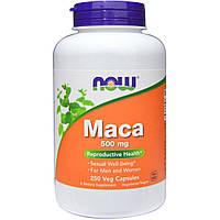 Перуанская Мака, Maca, Now Foods, 500 мг, 250 гелевых капсул